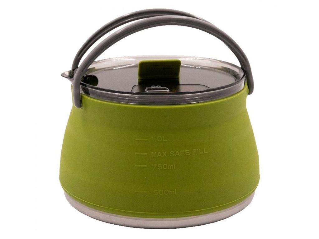 Чайник силиконовый Tramp 1L Olive TRC-125