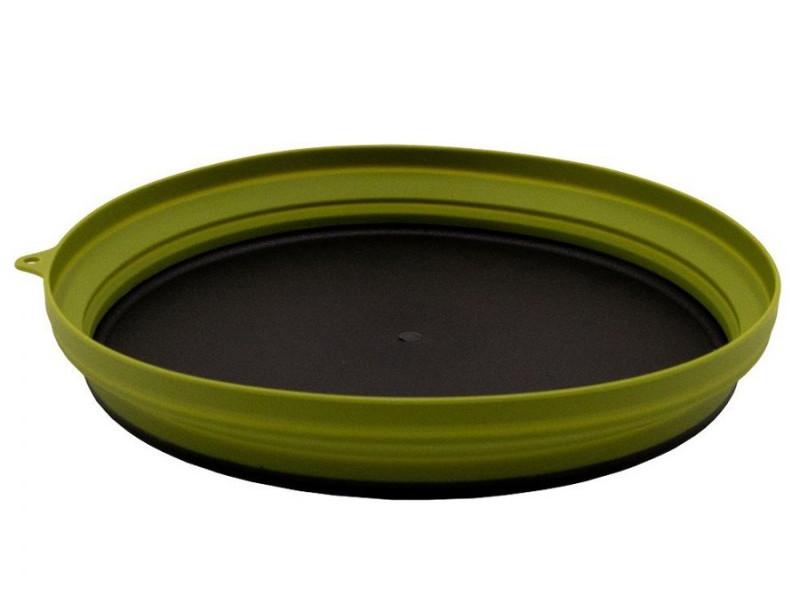Тарелка силиконовая Tramp 25.5x25.5x4 Olive TRC-124