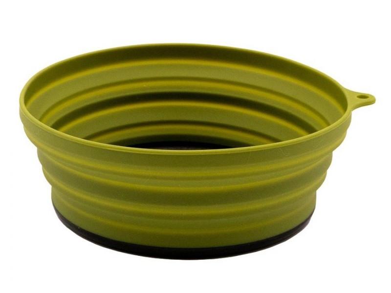 Тарелка силиконовая Tramp 15x15x8.5 Olive TRC-123