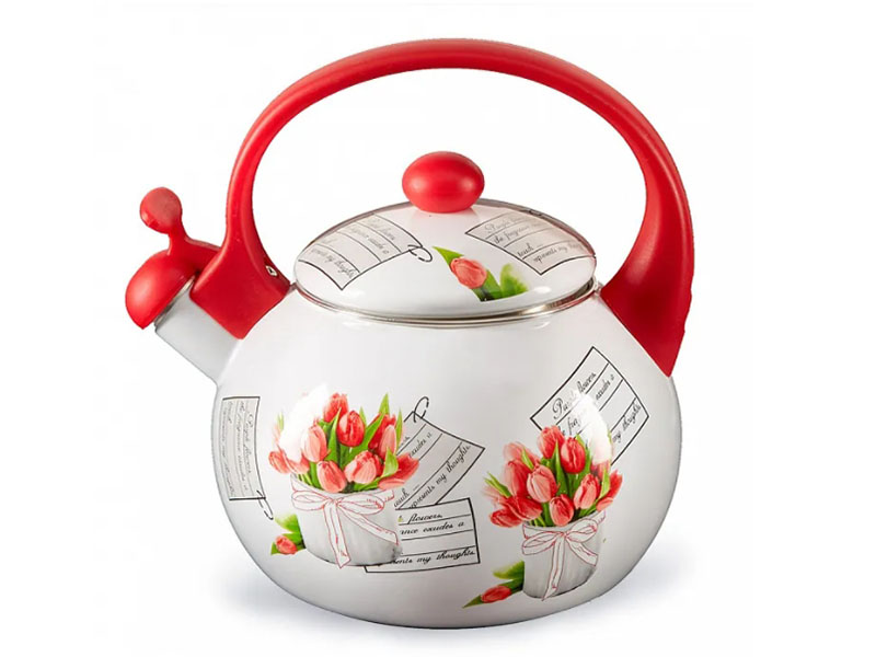 Чайник Metalloni Тюльпаны ЕМ-25101/38 2.5L