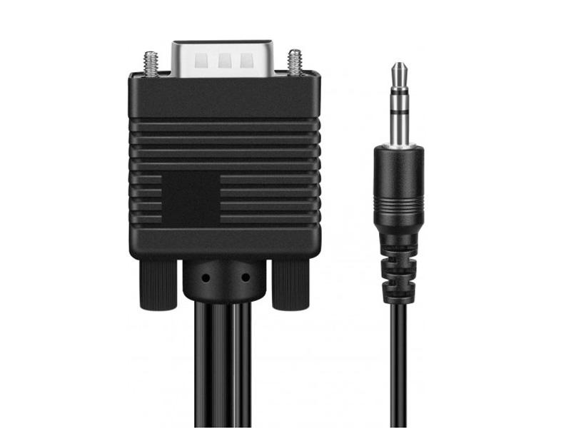 Фото - Аксессуар KS-is VGA 15M / AUX 3.5mm - VGA 15M / AUX 3.5mm 2.0m KS-499-2 пусковые провода ks ks 100a 50 2 5m