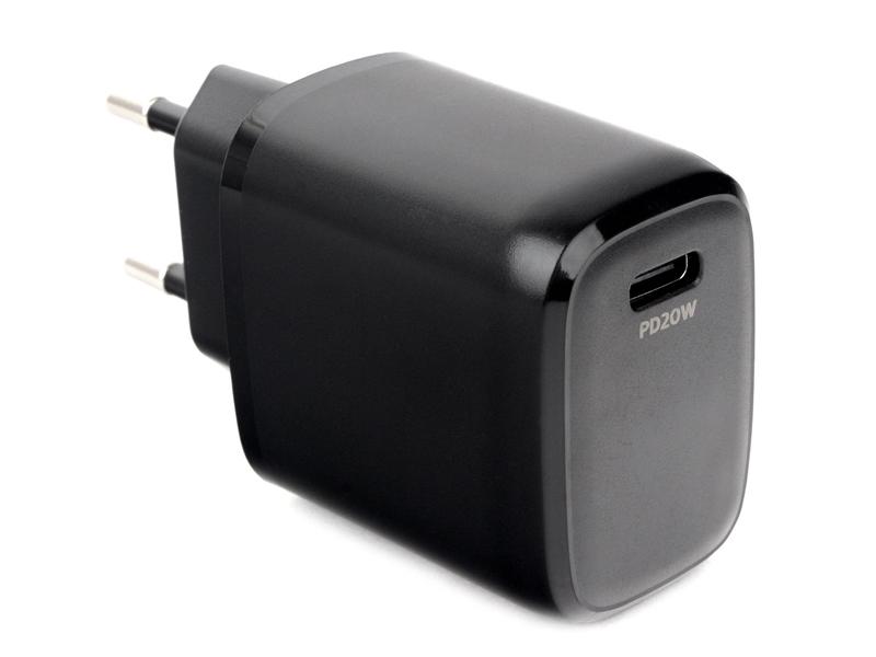 Зарядное устройство Gembird Cablexpert USB Type-C PD20W QC3.0 Black MP3A-PC-30