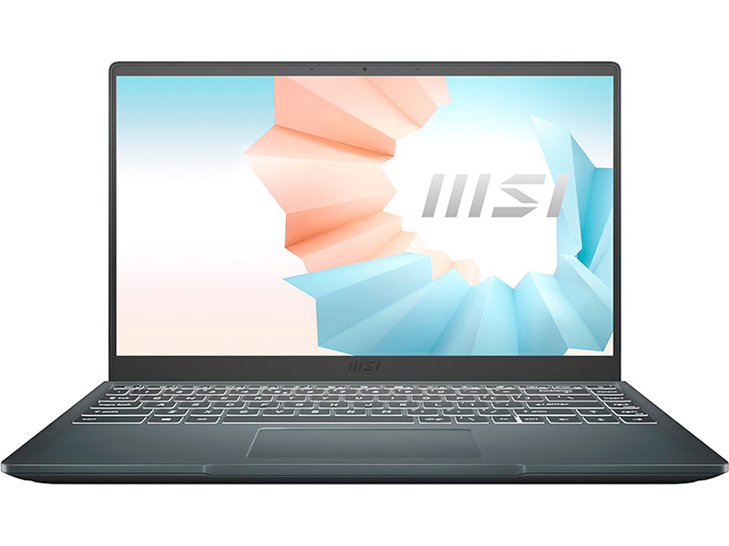 Ноутбук MSI Modern 14 B4MW-252RU 9S7-14DK14-252 (AMD Ryzen 7 4700U 2.0GHz/8192Mb/256Gb SSD/No ODD/AMD Radeon Graphics/Wi-Fi/Bluetooth/Cam/14/1920x1080/Windows 10 64-bit)