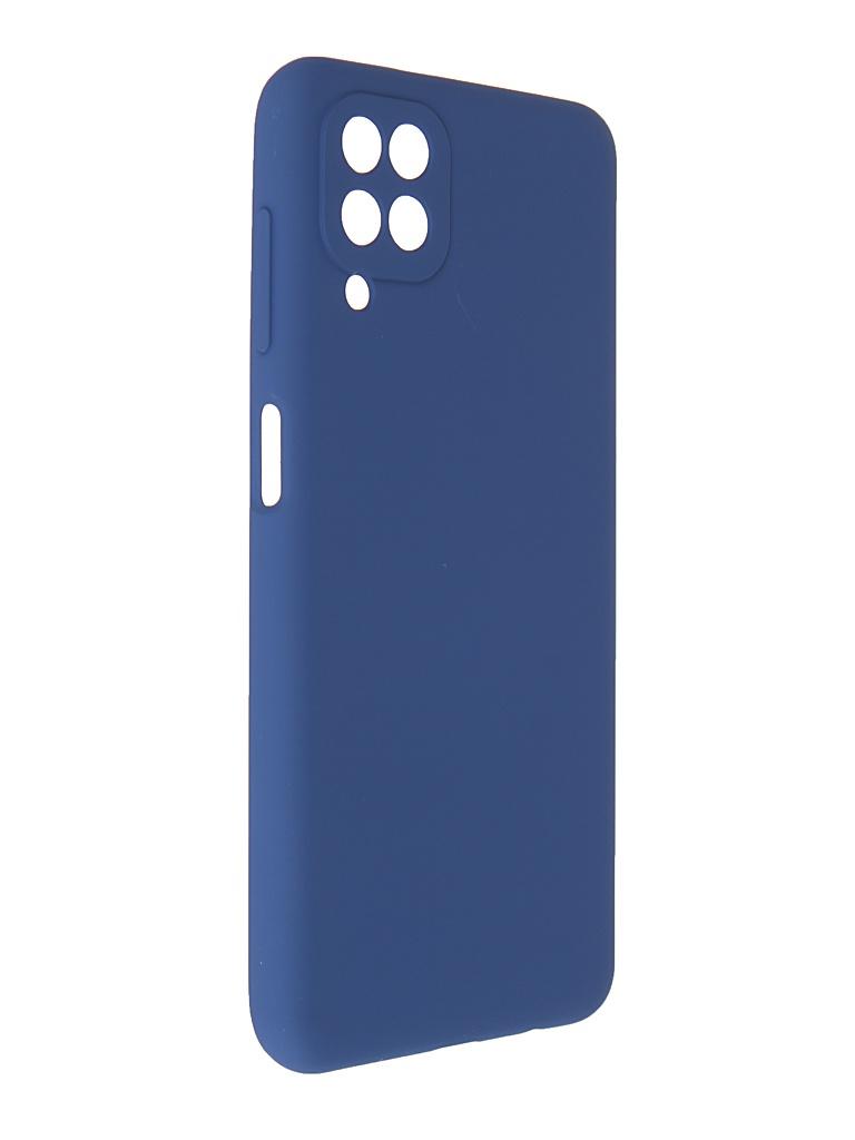 Чехол Pero для Samsung Galaxy A12 Liquid Silicone Blue PCLS-0044-BL