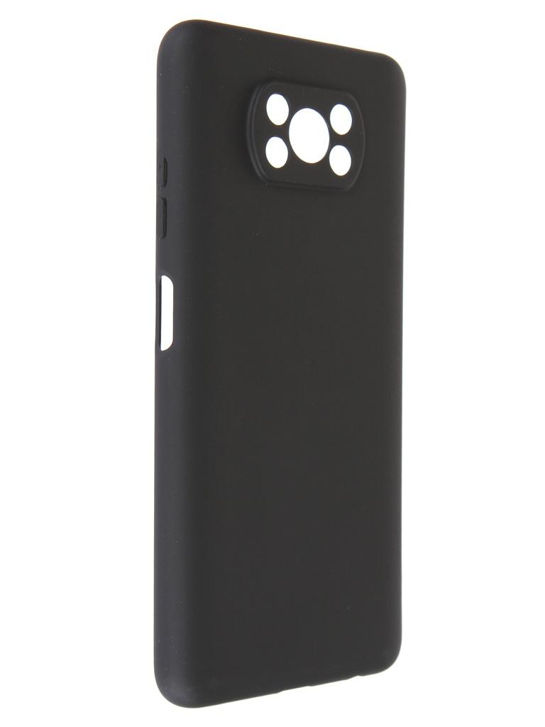 Чехол Pero для Xiaomi Poco X3 Soft Touch Black CC1C-0053-BK