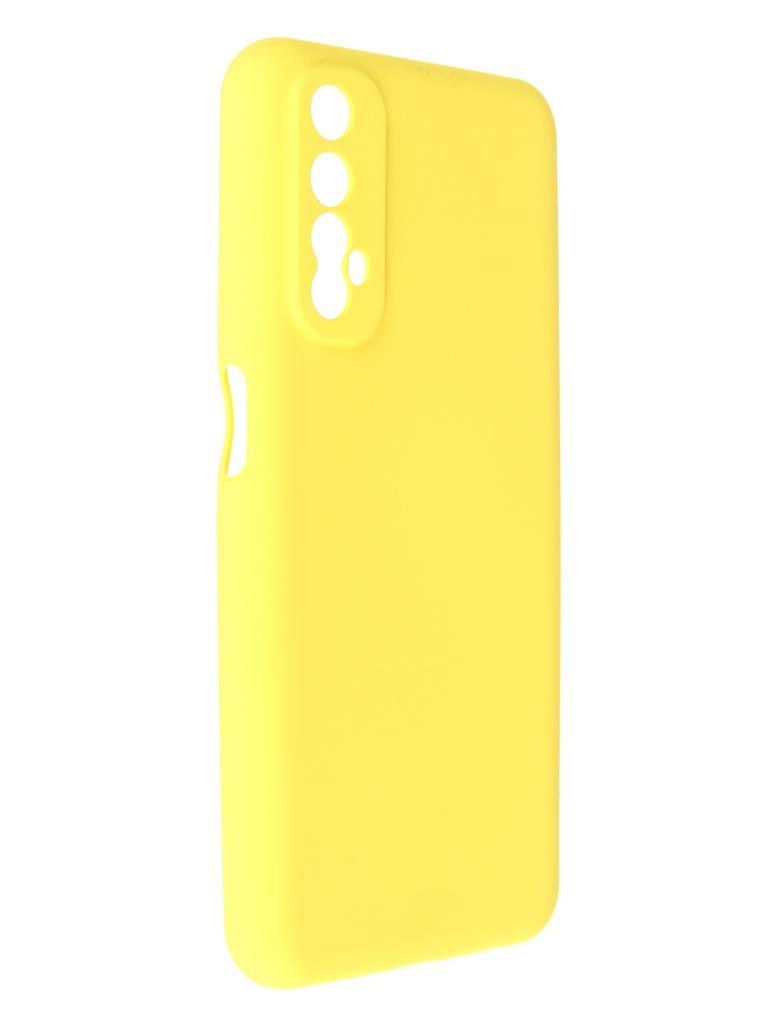 Чехол Pero для Realme 7 Liquid Silicone Yellow PCLS-0057-YW