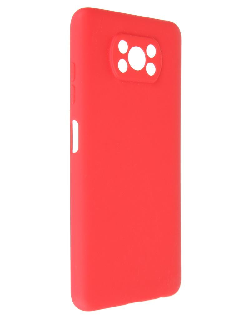 Чехол Pero для Xiaomi Poco X3 Soft Touch Red CC1C-0053-RD