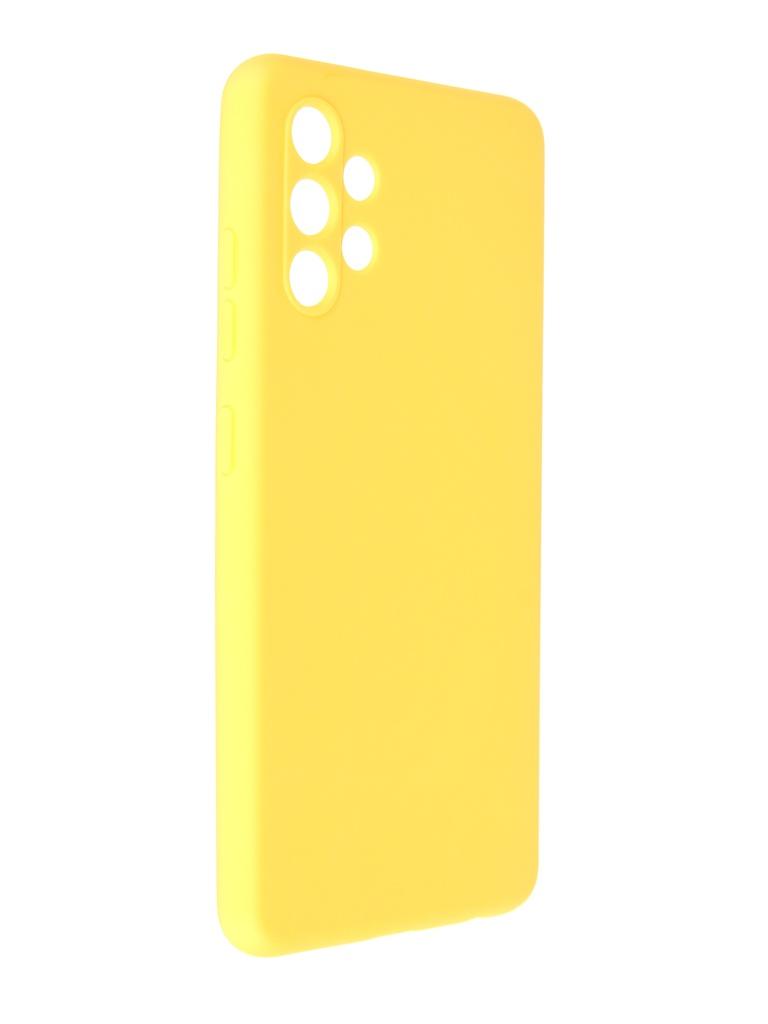 Фото - Чехол Pero для Samsung Galaxy A32 Soft Touch Yellow CC1C-0047-YW ультратонкая защитная накладка soft touch для samsung galaxy a32 с принтом улыбка чеширского кота черная