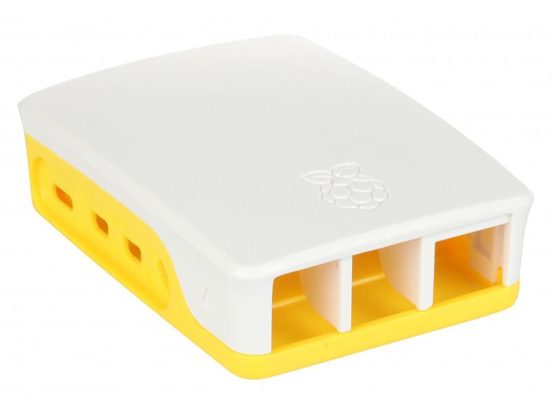 Корпус Qumo RS032 для Raspberry Pi 4 ABS Plastic White-Yellow