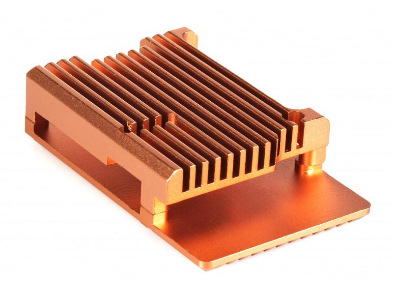 Корпус Qumo RS005 для Raspberry Pi 4 Aluminum Case Gold