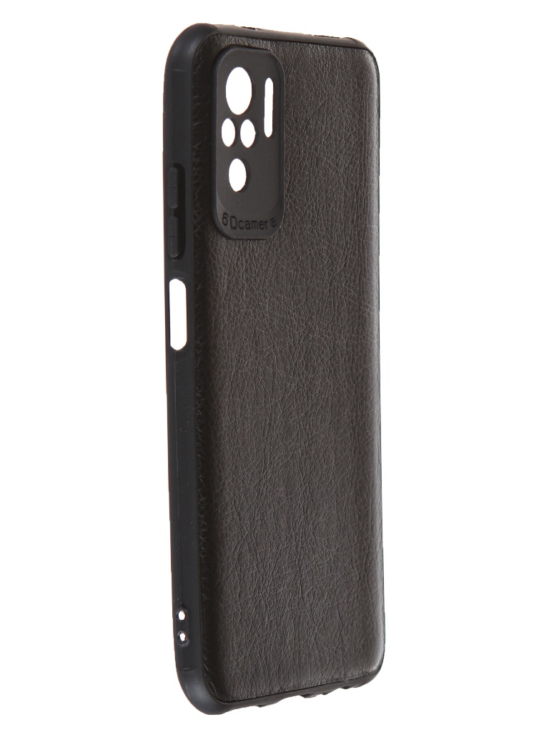 Чехол Neypo для Xiaomi Redmi Note 10 / 10S PU Leather Back Silicone Black NPUL22322