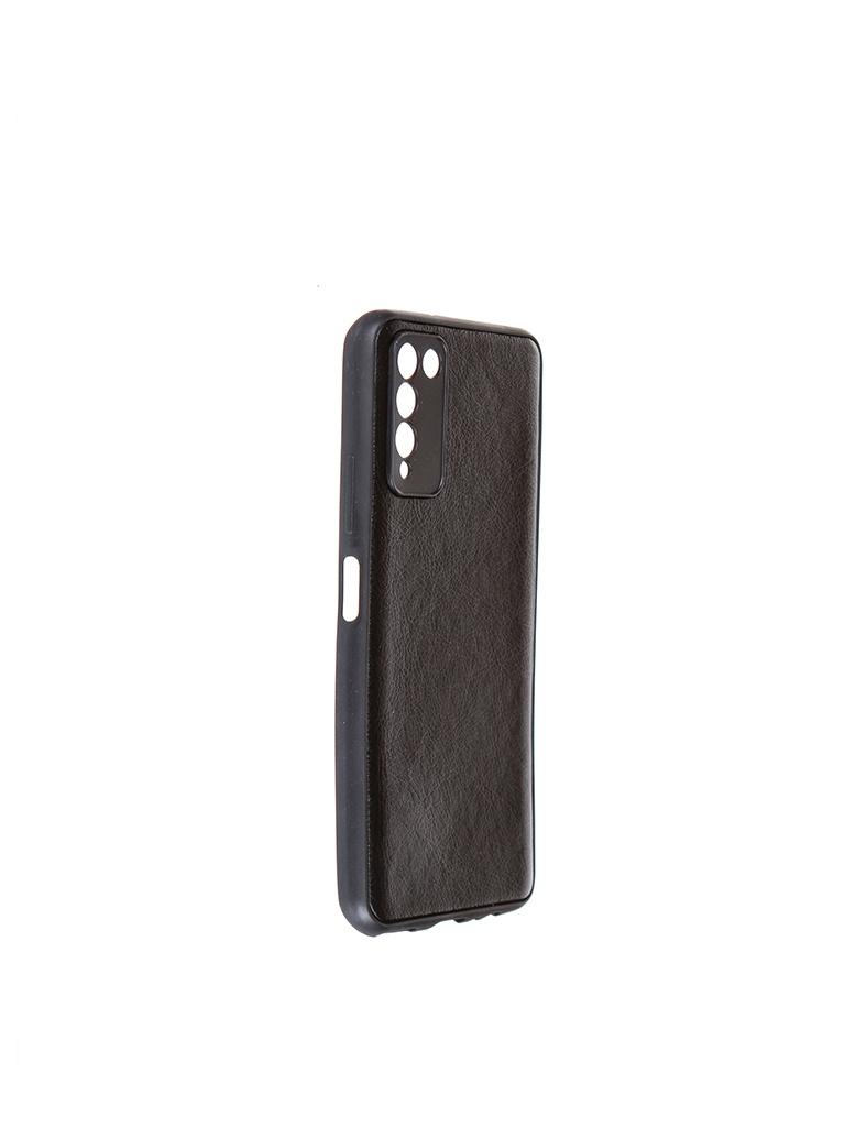 Чехол Neypo для Honor 10x Lite PU Leather Back Silicone Black NPUL20505