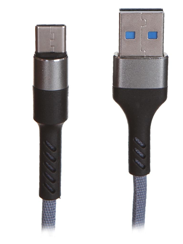 Аксессуар Maverick Textile & Metall C4 USB - USB Type-C 1.2m Grey ПSELAEP1883 аксессуар vipe usb type grey vptypeccblcopgrey