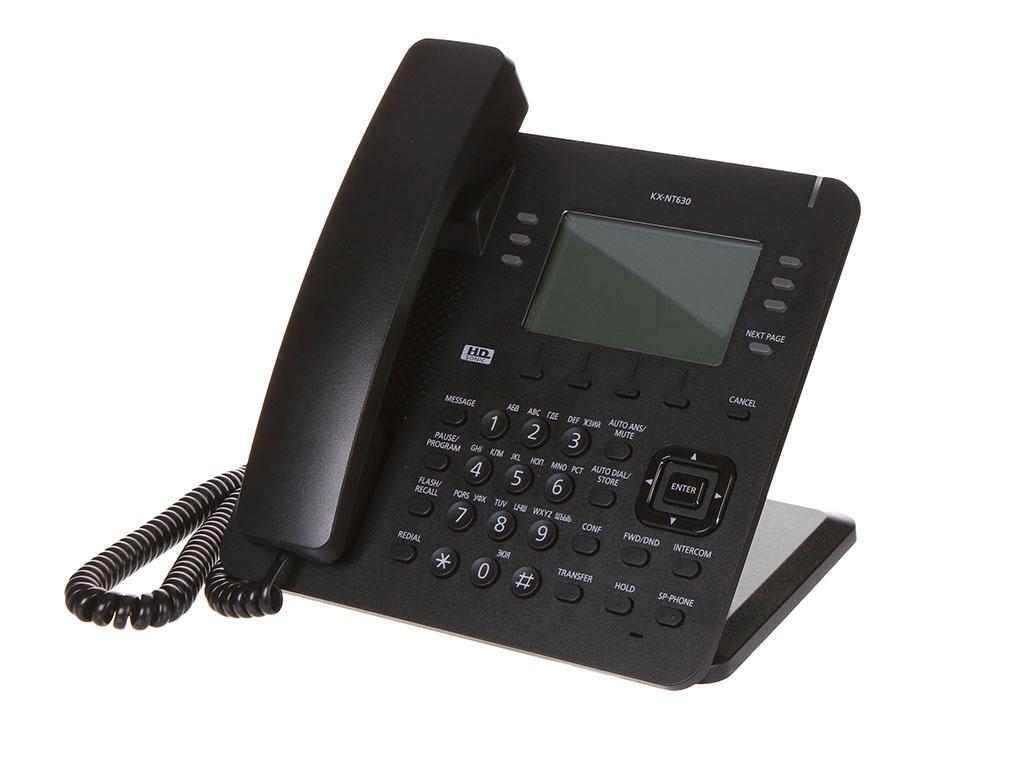 Фото - Радиотелефон Panasonic KX-NT630RU Black радиотелефон panasonic kx tg1711 rub black