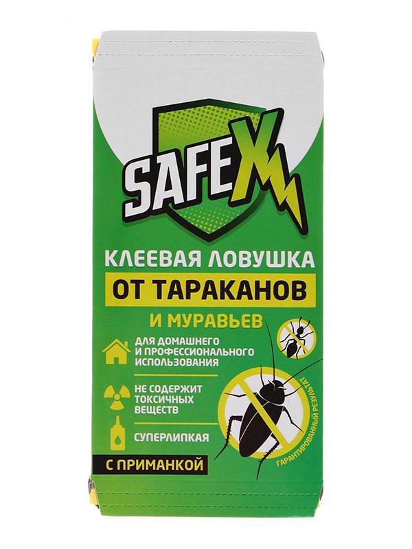 Средство защиты Safex Клеевая ловушка с приманкой от тараканов и муравьев, домик 1шт 4071282 ловушка клеевая от моли silvalure secure 1шт