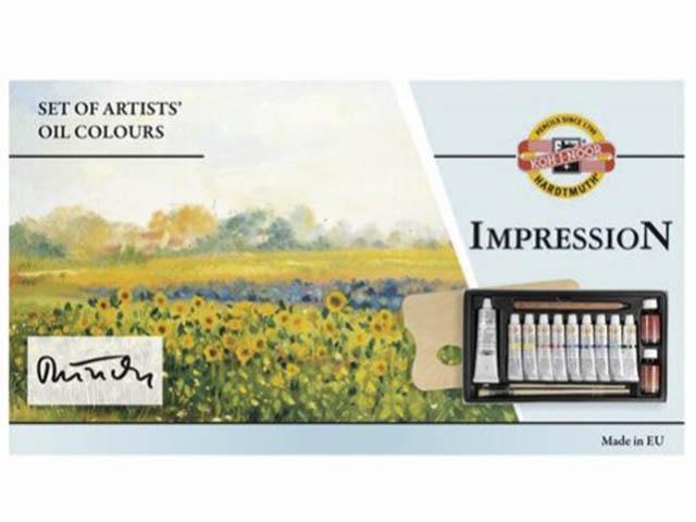 Масляные краски Koh-i-Noor Impression 9 цветов по 16ml + белила 16160300000