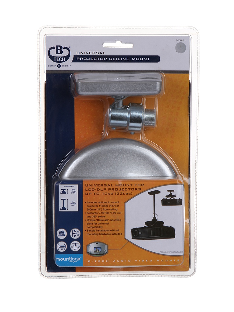 Кронштейн B-Tech BT 881 (до 20кг) Silver