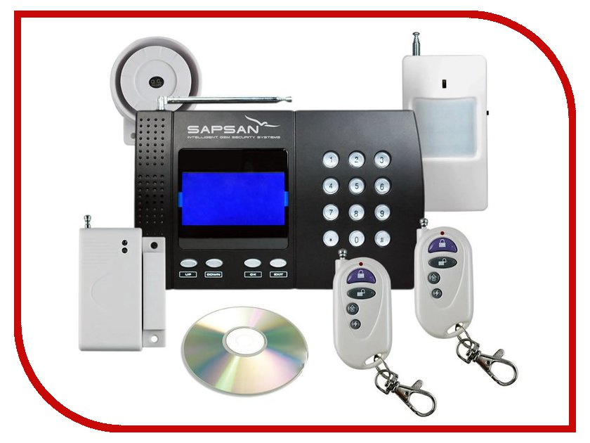 Сигнализация Sapsan GSM Pro 5T 00003699 315 мгц беспроводная gsm главная охранной охранная сигнализация автоматический номеронабиратель смс сим позвоните нам затыкают