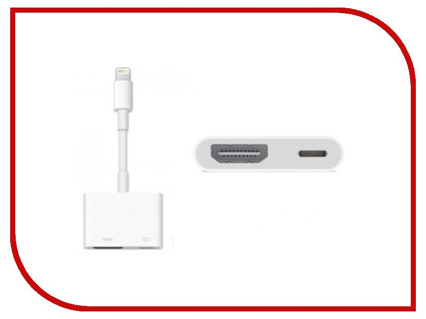 Аксессуар APPLE Lightning to Digital AV Adapter MD826ZM/A rombica digital ig 02 usb apple lightning mfi white кабель 0 35 м