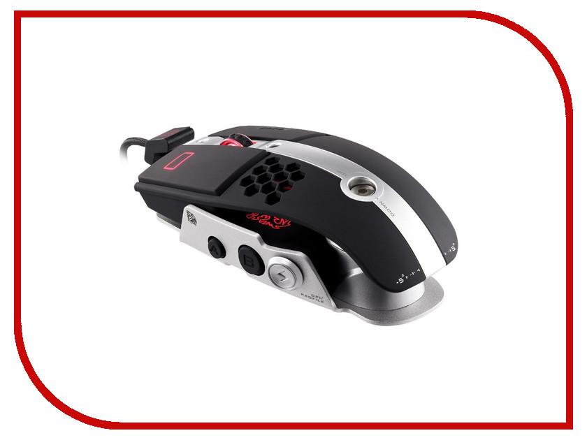 Мышь проводная Tt eSports By Thermaltake Gaming mouse Level 10MAluminum Black MO-LTM009DT<br>