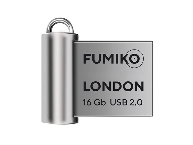USB Flash Drive 16Gb - Fumiko London 2.0 Silver FLO-03