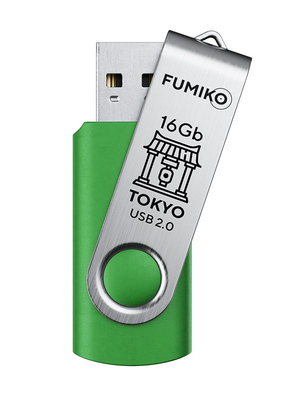 бейсболка truespin tokyo green orange o s USB Flash Drive 16Gb - Fumiko Tokyo USB 2.0 Green FU16TOGREEN-01 / FTO-18