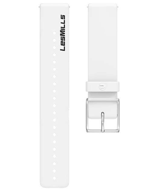 Аксессуар Ремешок для Polar Wrist Band Ignite LesMills 20mm M-L Silicone White 91081717
