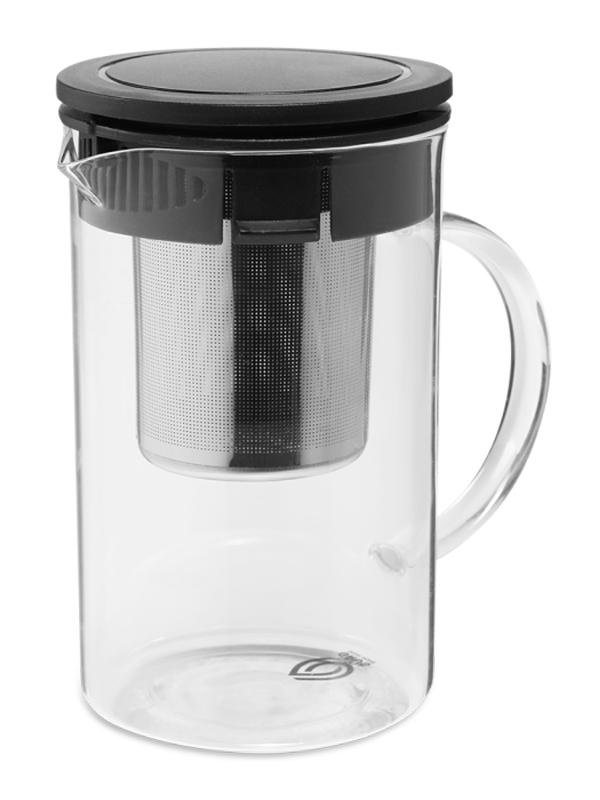 Заварочный чайник Dosh i Home Grus 800ml с ситечком Black 500112 недорого