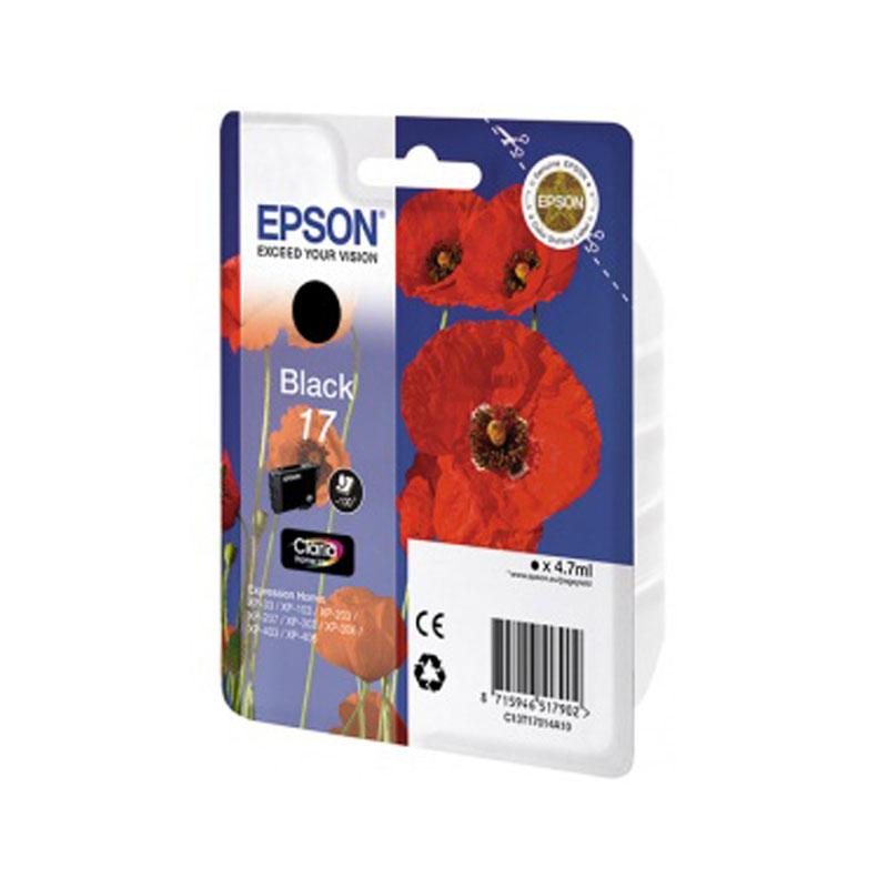 Картридж Epson T1701 C13T17014A10 Black для XP-33/103/203/207/303/306/403/406