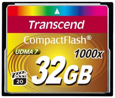 Карта памяти 32Gb - Transcend 1000x Compact Flash TS32GCF1000