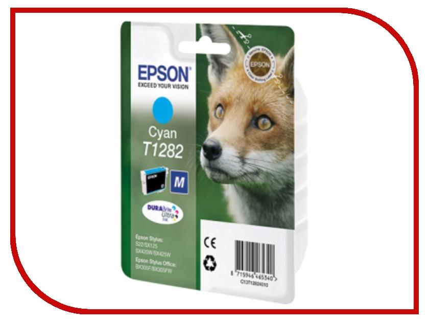 Картридж Epson T1282 C13T12824011 Cyan для S22/SX125/SX420W/SX425W/BX305F/BX305FW<br>
