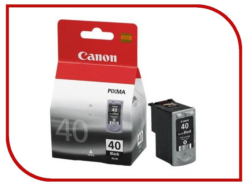 Картридж Canon PG-40 Black для Pixma MP450/150/170/iP2200/1600 0615B025 картридж canon pg 40 черный pixma mp450 mp150 mp170 ip1600 ip2200 ip6210d 0615b025