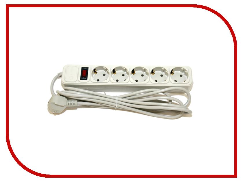 Сетевой фильтр 5bites 5 Sockets 3m White SP5-W-30