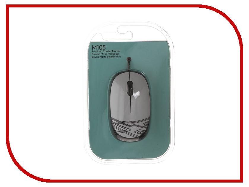 Мышь проводная Logitech M105 White 910-003117