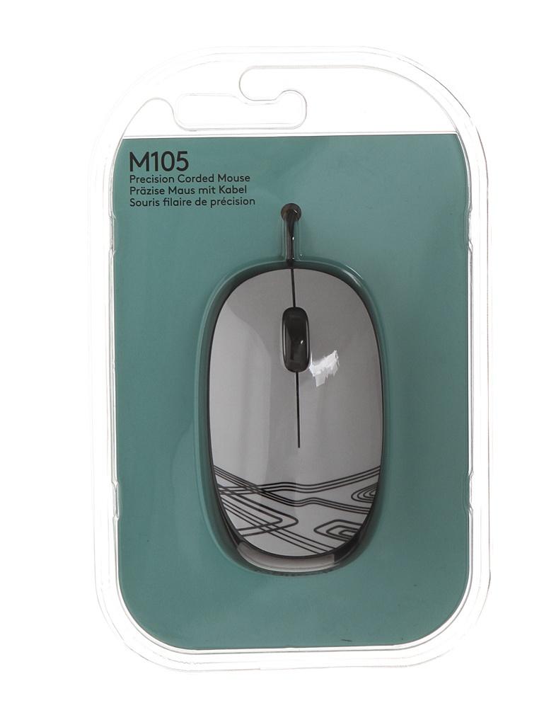 Мышь Logitech M105 White 910-003117 / 910-002944 мышь logitech mouse m105 910 002945
