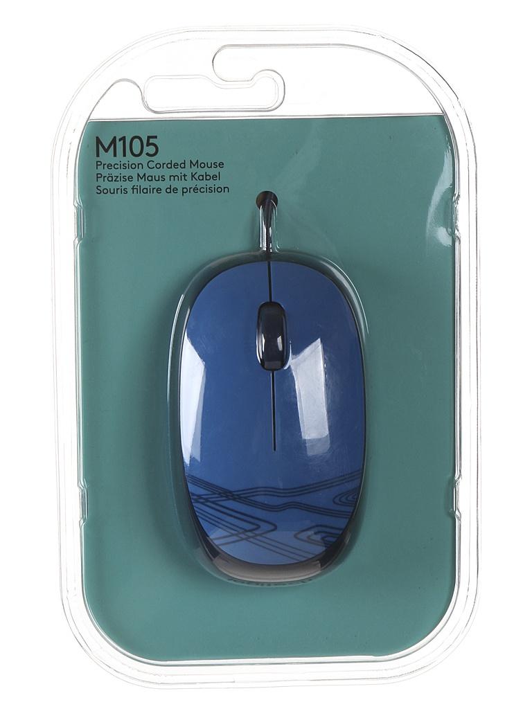 Мышь Logitech M105 Blue 910-003119 мышь logitech mouse m105 910 002945