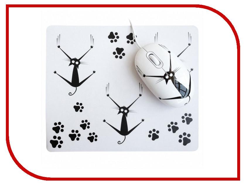 Мышь CBR Crazy Cat мышь сувенирная + коврик мышь cbr cm500 gray серая