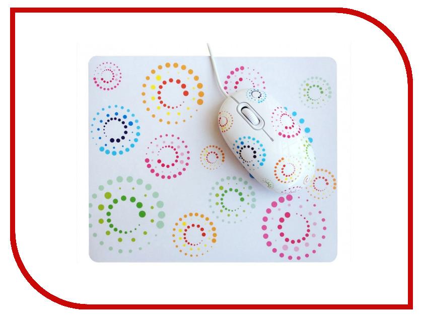 Мышь CBR Rainbow мышь сувенирная + коврик makfa лапша 450 г