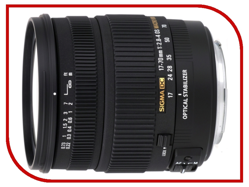 Объектив Sigma Nikon AF 17-70 mm F/2.8-4 DC MACRO OS HSM Contemporary
