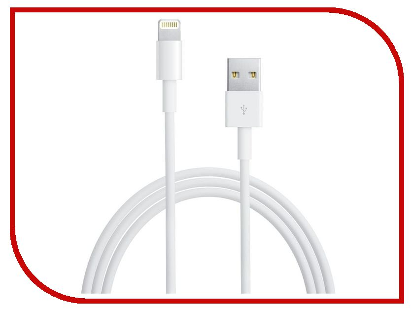 Аксессуар APPLE Lightning to USB Cable 0.5m для iPhone 5 / 5S / SE/iPod Touch 5th/iPod Nano 7th/iPad 4/iPad mini ME291M/B<br>