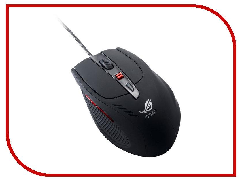 Мышь ASUS GX950 Black 90-XB3L00MU00000 USB  мышь проводная asus gx850 black