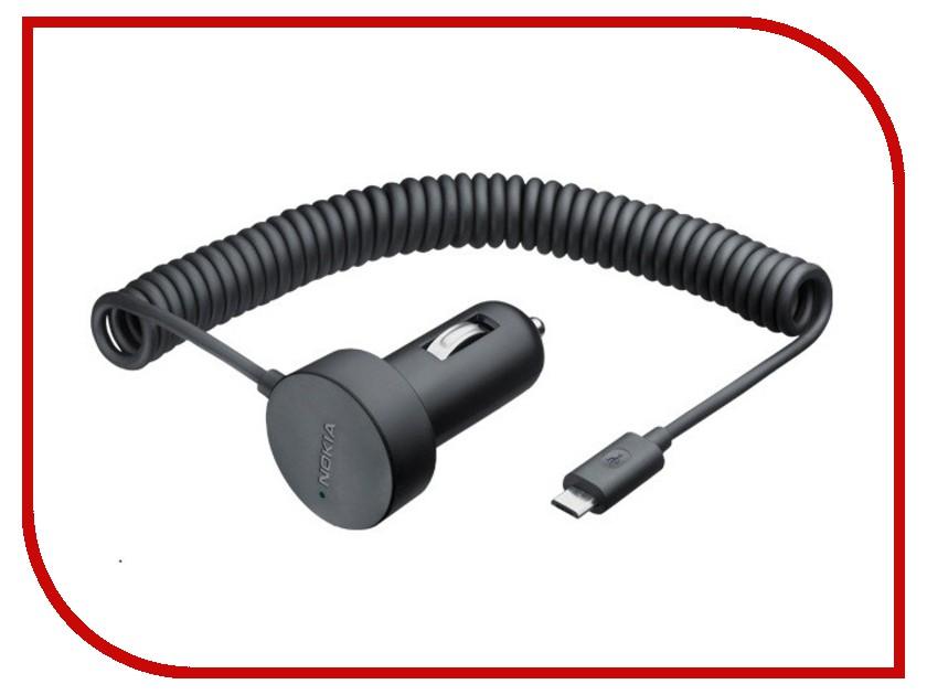Аксессуар Зарядное устройство Nokia DC-17 micro-USB автомобильное<br>