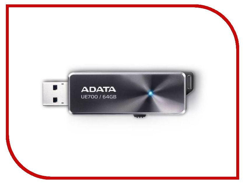 USB Flash Drive 64Gb - A-Data DashDrive Elite UE700 USB 3.0 AUE700-64G-CBK usb flash накопитель a data dashdrive elite ue700 64gb