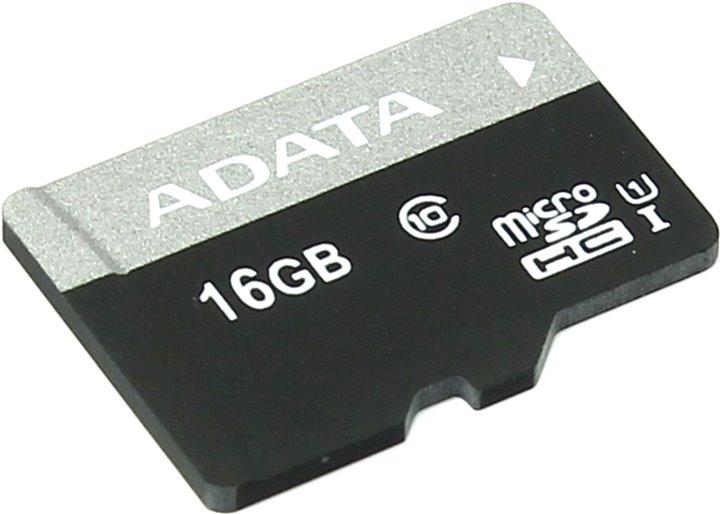 Карта памяти 16Gb - A-Data Premier - Micro Secure Digital HC Class 10 UHS-I U1 AUSDH16GUICL10-R