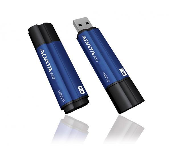 USB Flash Drive 16Gb - A-Data S102 Pro USB 3.0 Blue AS102P-16G-RBL usb flash drive 8gb a data uc510 metallic blue auc510 8g rbl