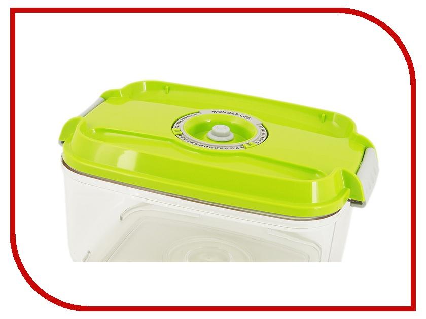 Аксессуар Пищевой вакуумный контейнер Wonder Life 2л Green WL-ST-2000-Gr<br>