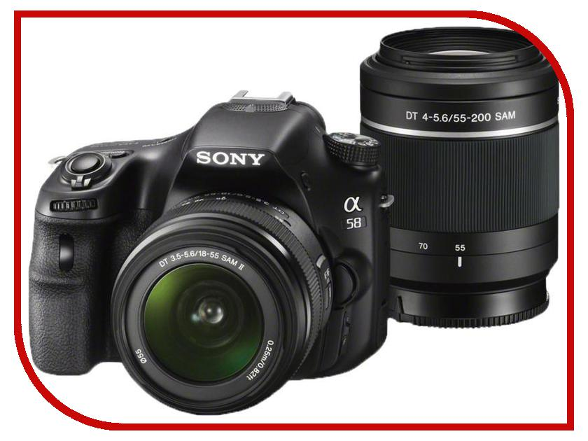 ����������� Sony Alpha SLT-A58Y Kit 18-55, 55-200 mm
