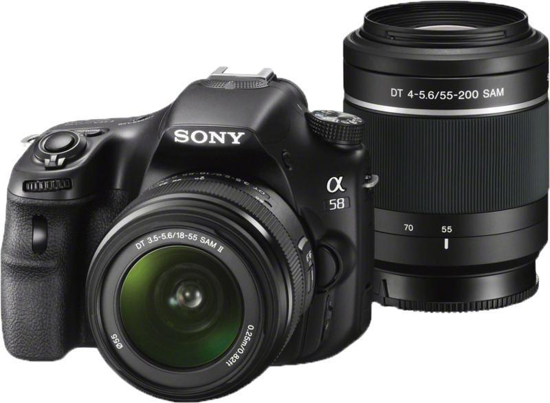 Фотоаппарат Sony Alpha SLT-A58Y Kit 18-55, 55-200 mm<br>