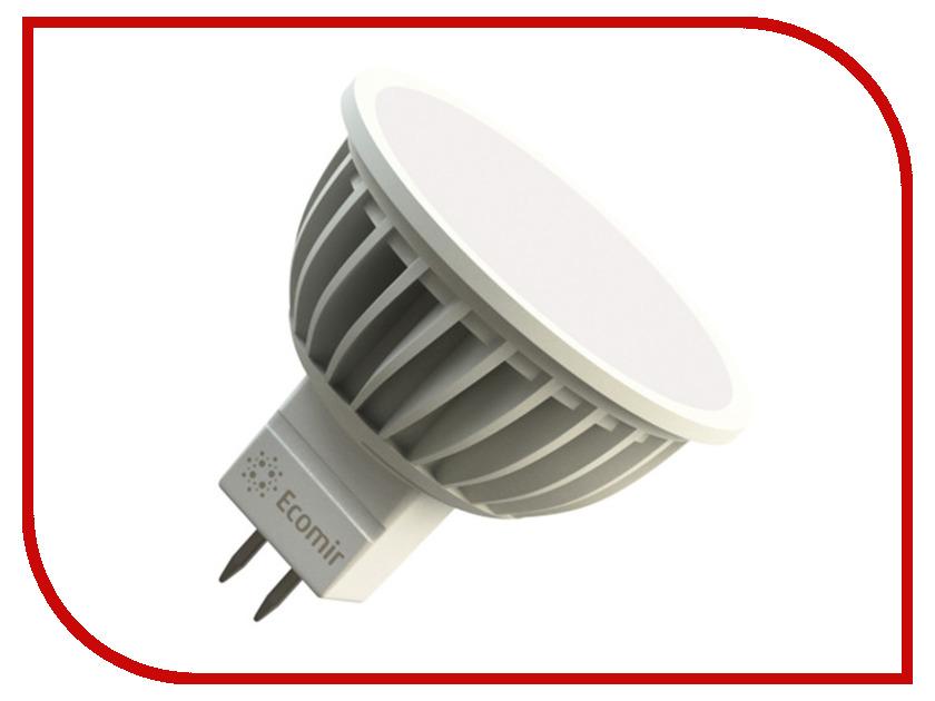 Лампочка Ecomir MR16 GU5.3 4W 3000K 12V матовая, жёлтый свет 43088 цена
