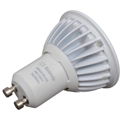 Лампочка Ecomir MR16 GU10 4W 3000K 220V матовая, жёлтый свет 43378<br>